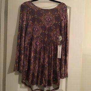 NWT O'Neill Long Sleeve Multicolor Dress!